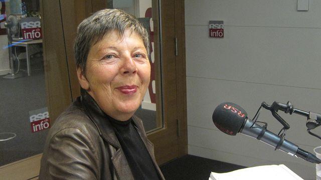 Dominique Diserens, secrétaire centrale du syndicat Impressum. [Sandro Lisci - RTS]