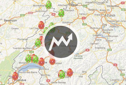La carte des activités de pâques en suisse romande [rts]