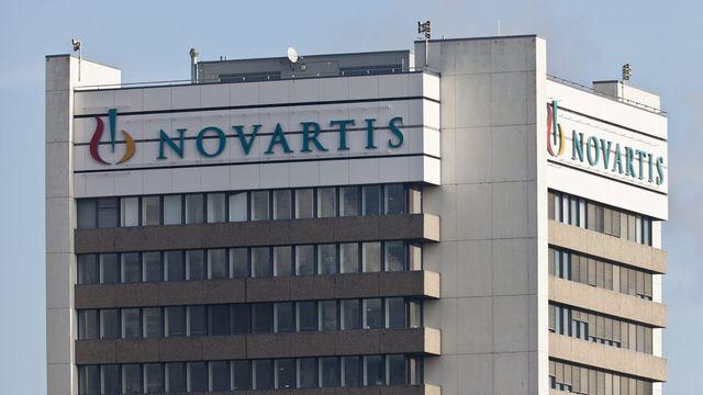 Le siège de Novartis à Bâle. [Gaetan Bally - Keystone]