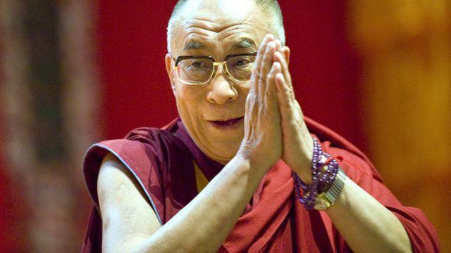 Le Dalaï-Lama en visite à Lausanne le 5 août 2009. [Laurent Gillieron - Keystone]