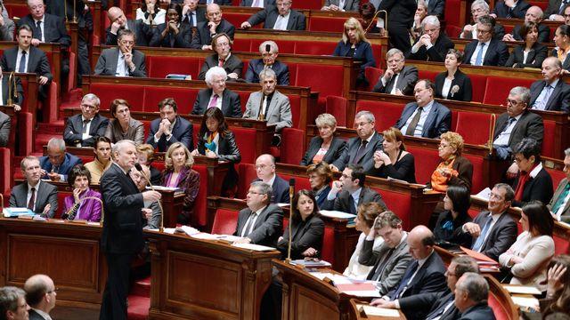 Le premier ministre Jean-François Ayrault face au parlement français. [Eric Feferberg - AFP]