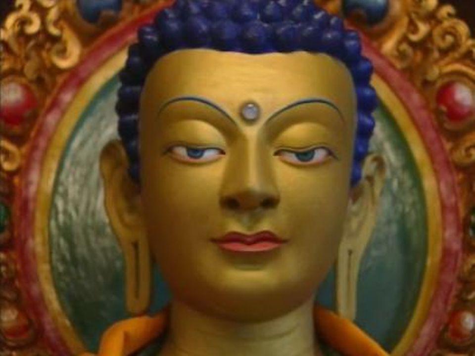 Un bouddha tibétain dans le monastère du Mont-Pèlerin à Vevey. [RTS]