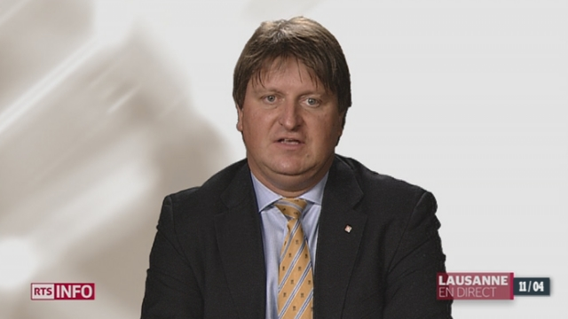 Initiative de l'UDC pour interdire la mendicité: entretien avec Claude-Alain Voiblet, secrétaire général UDC, VD [RTS]