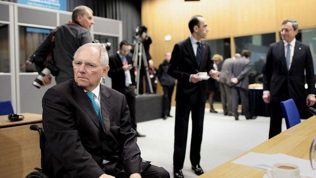 Les ministres des finances de l'Union européenne, ici l'Allemand Wolfgang Schauble, sont réunis à Dublin. [Peter Morrison - Keystone]