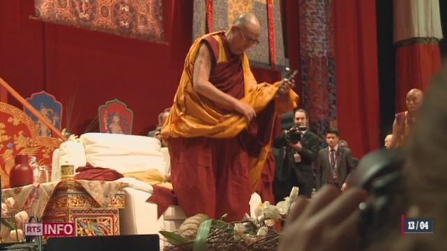 Le Dalaï-lama était samedi à Fribourg [RTS]