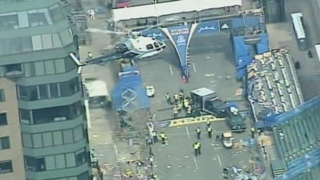 Images du marathon de Boston après les explosions [RTS]