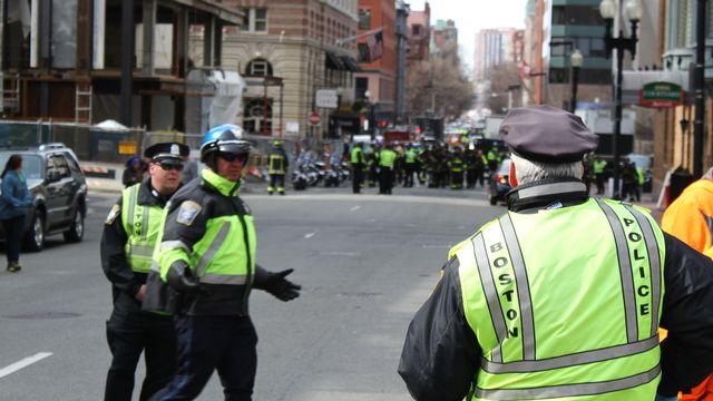 Tout le centre-ville de Boston, où se sont déroulées les explosions, a été bouclé par la police. [Filipp Kravzov - RIA Novosti/AFP]