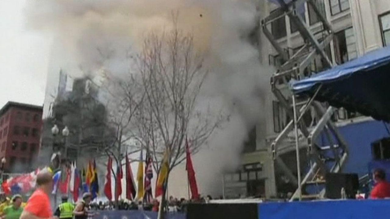 Le moment des explosions au marathon de Boston [RTS]
