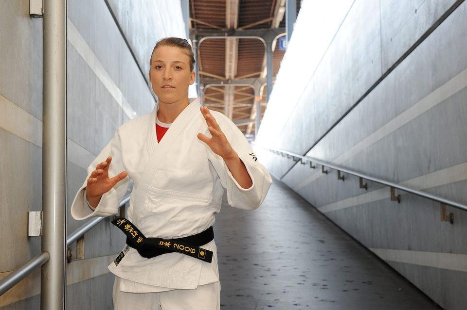 La forme affichée par la judoka est un signe encourageant à <br/><span class=