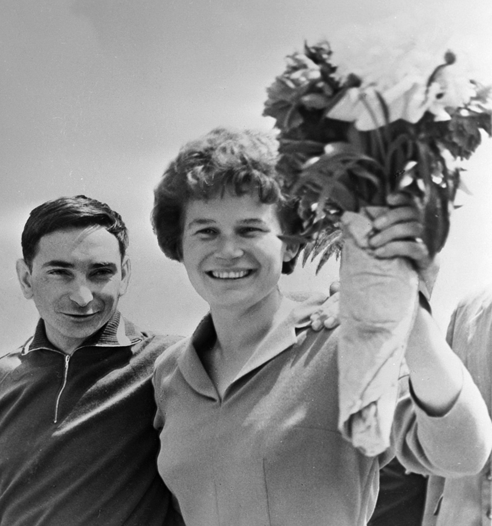 Valery Bykovsky and Valentina Tereshkova