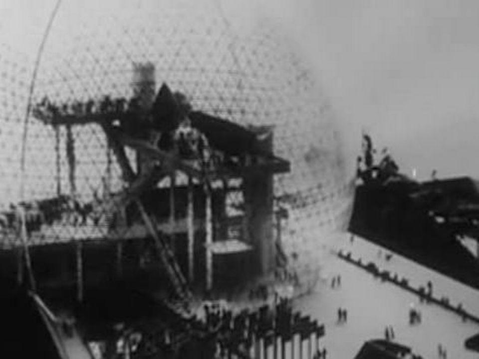 Le pavillon américain à l'Expo universelle de Montréal en 1967. [RTS]