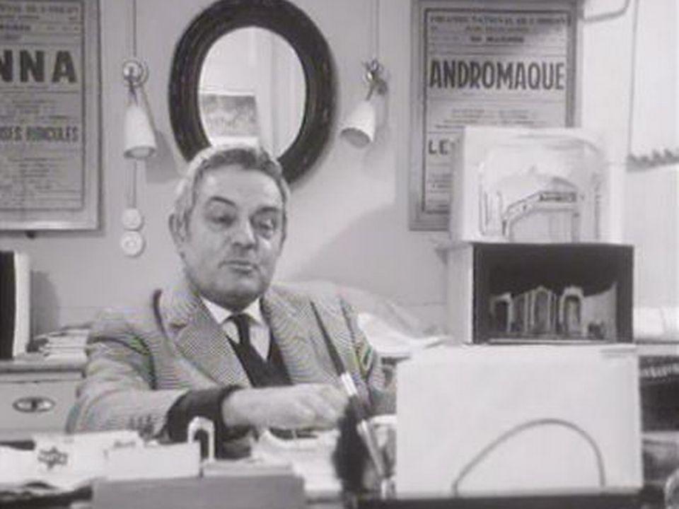 André Talmès, directeur de la Comédie de Genève, 1968. [RTS]