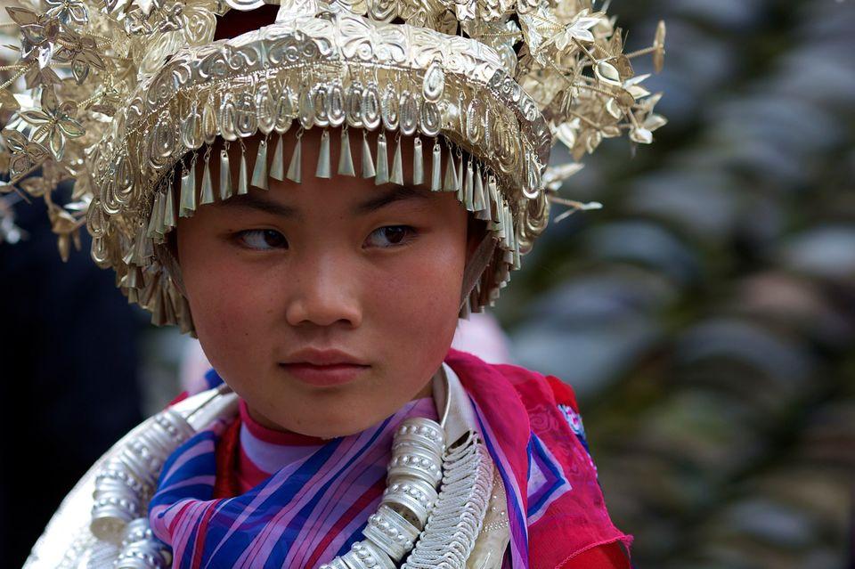 Fête de l'ethnie Miao, province du Guizhou en Chine (1). [Romain Guélat - RTS]