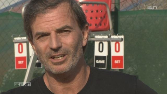 Reportage sur Heinz Günthardt, capitaine de l'équipe suisse Fedcup [RTS]