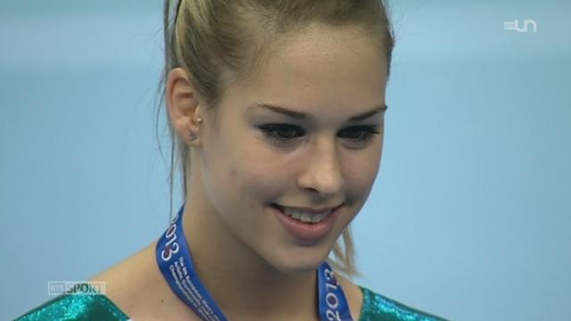 Gymnastique: Giulia Steingruber s'offre la médaille d'or de saut à Moscou alors que Lucas Fischer trouve la 2ème place aux barres paralèlles [RTS]
