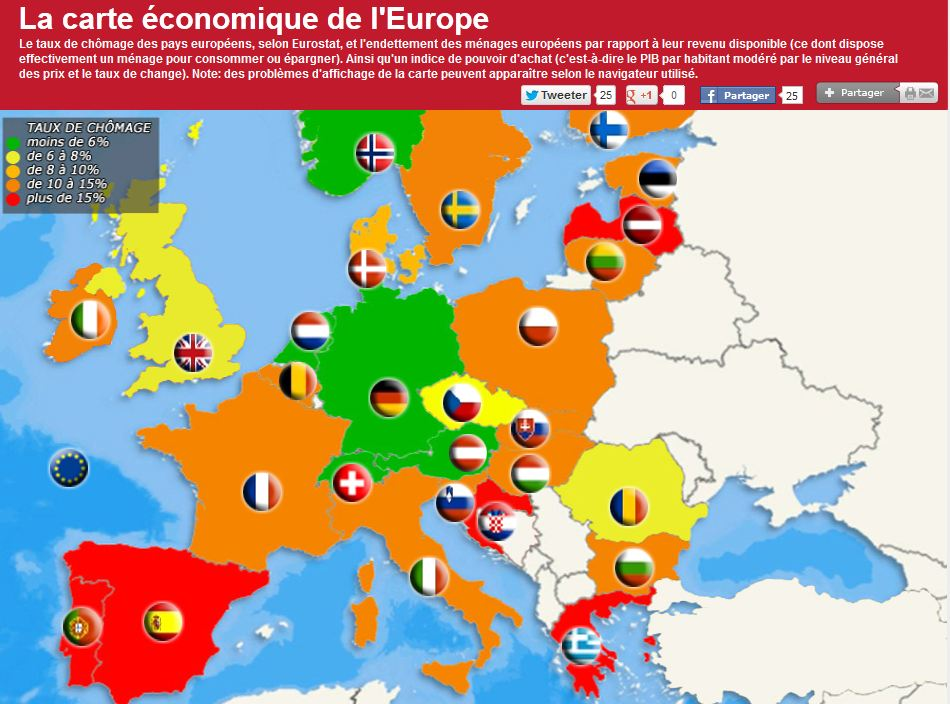 carte europe economique