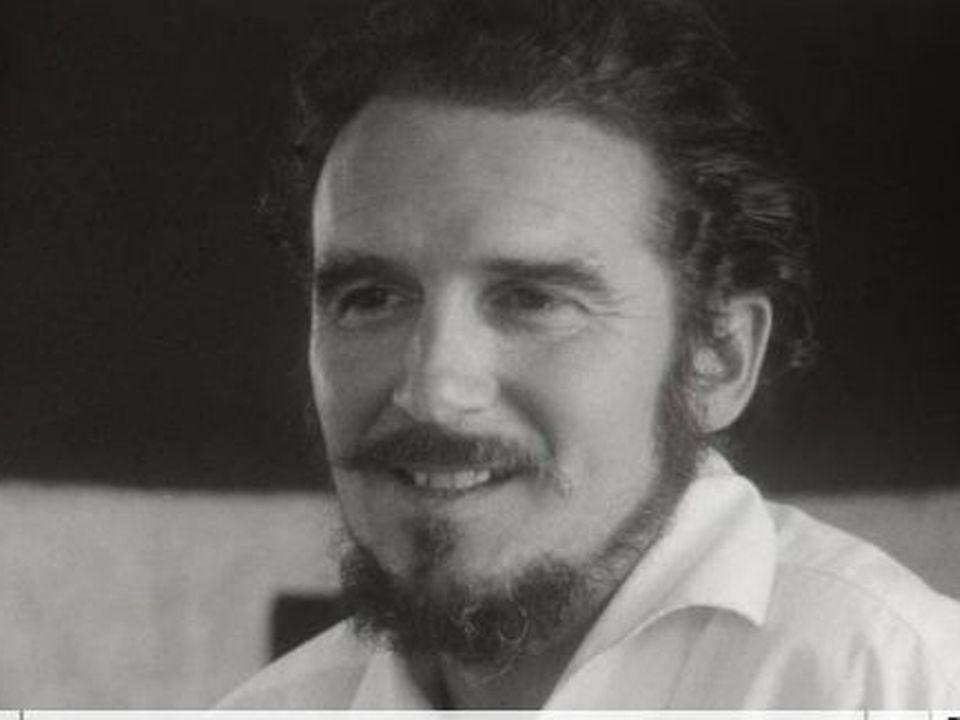 Le peintre Ellis Zbinden en 1966. [RTS]