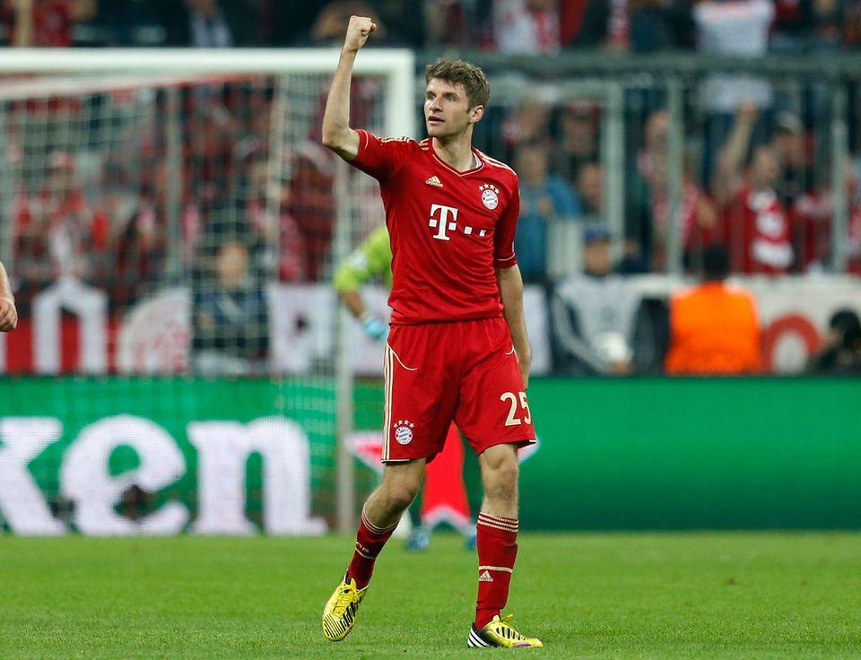 Auteur de deux buts au match aller, Thomas Müller sera à surveiller. [Matthias Schrader - Keystone]