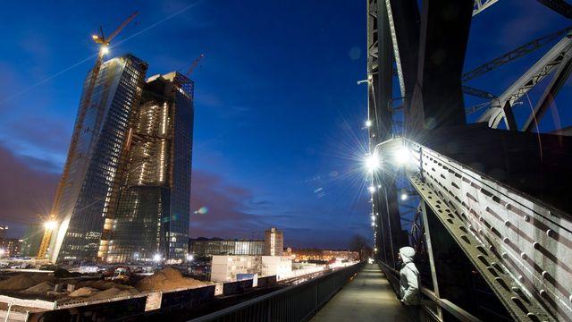 La Banque centrale européenne à Francfort. [Boris Roessler - Keystone]