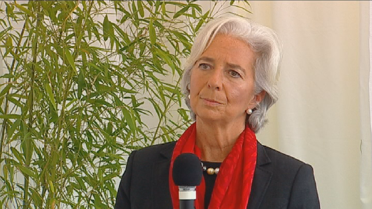 La directrice du Fonds monétaire international (FMI) Christine Lagarde s'est rendue jeudi au symposium de Saint-Gall.
