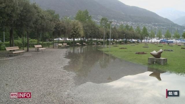 Les lacs sont sur le point de déborder après les fortes pluies des derniers jours au Tessin [RTS]