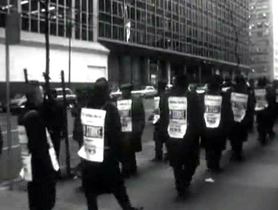 On strike in NY - Continents sans visa - 31 janvier 1963. [RTS]