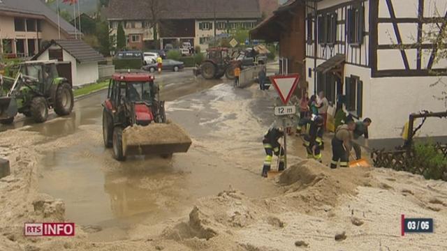 Les violents orages qui se sont abattus sur la Suisse ont pris des proportions historiques [RTS]
