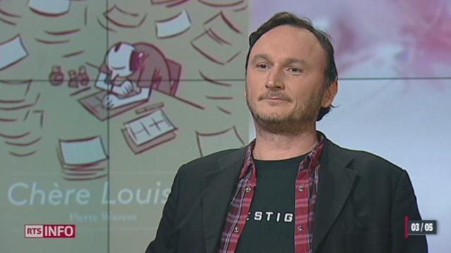 """L'invité culturel: le dessinateur Pierre Wazem présente son livre """"Chère Louise"""" [RTS]"""