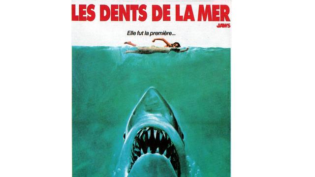 """Affiche du film """"Les dents de la mer""""."""