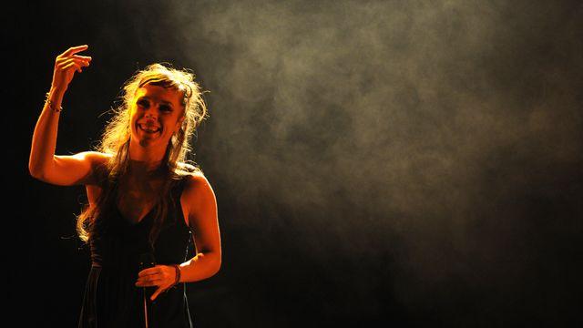 Zaz en concert à Moscou. [AFP]