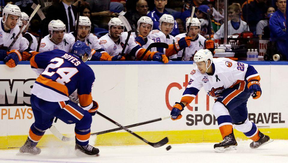 """""""El Nino"""" a réussi une belle saison à Bridgeport en AHL. [Kathy Willens - Keystone]"""