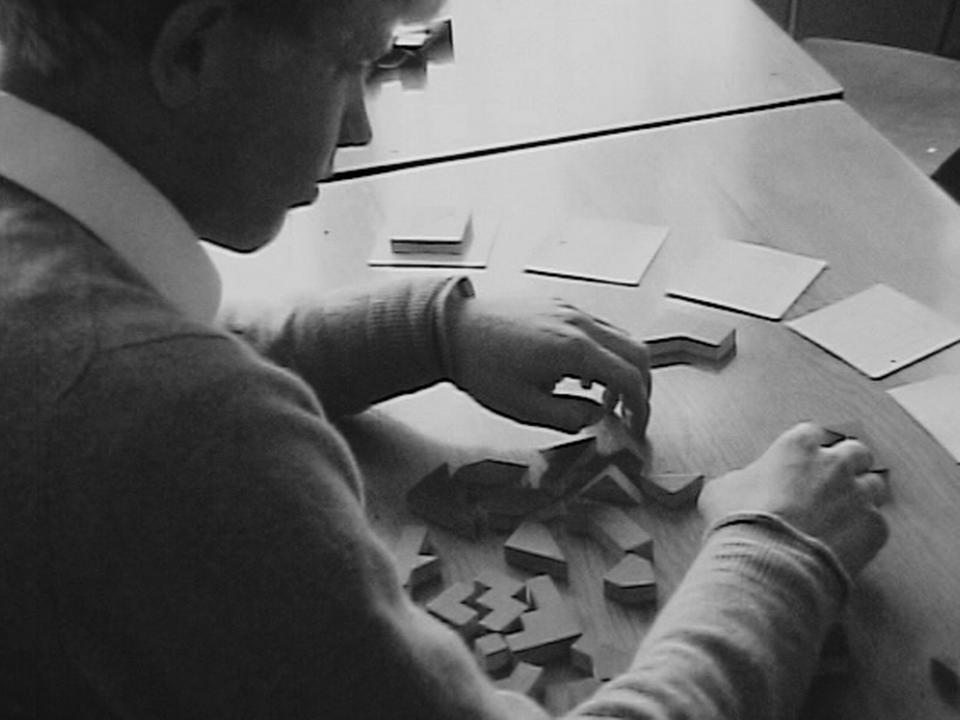 Un test psychotechnique en 1970. [RTS]