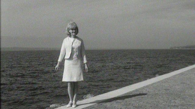 Madeleine Pascal défend les couleurs de la Suisse à l'Eurovision en 1966. [RTS]