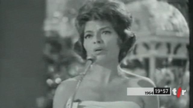 Lys Assia a remporté le concours Eurovision de la chanson en 1956. [RTS]
