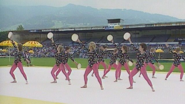 Journées de gymnastique féminine à Lucerne en 1991. [RTS]