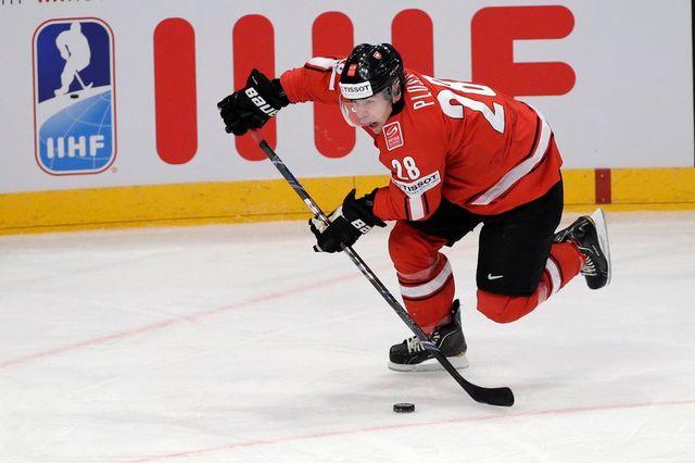 Plüss dispute à Stockholm son 12e Mondial avec l'équipe de Suisse. [Salvatore Di Nolfi - Keystone]