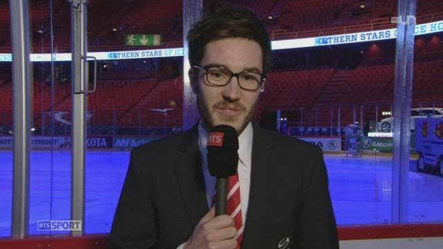 Hockey - Championnats du monde: l'attaquant Thibaut Monnet fait le point sur l'équipe de Suisse avant la finale (1-2) [RTS]