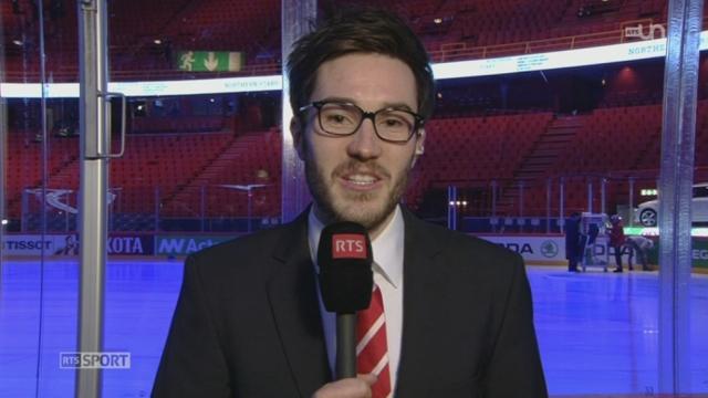Hockey - Championnats du monde: l'attaquant Thibaut Monnet fait le point sur l'équipe de Suisse avant la finale (2-2) [RTS]