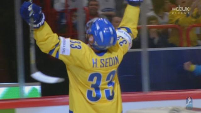 Finale, Suède - Suisse (2-1): la Suède pousse et la Suède marque le 2e but grâce à Sedin [RTS]