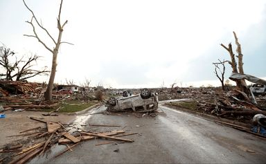 D'innombrables images de dévastation après le passage de la tornade près d'Oklahoma City. [Brett Deering - Getty Images]