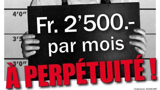 L'initiative propose 2500 francs mensuels pour toute la population. [BIEN-Suisse]