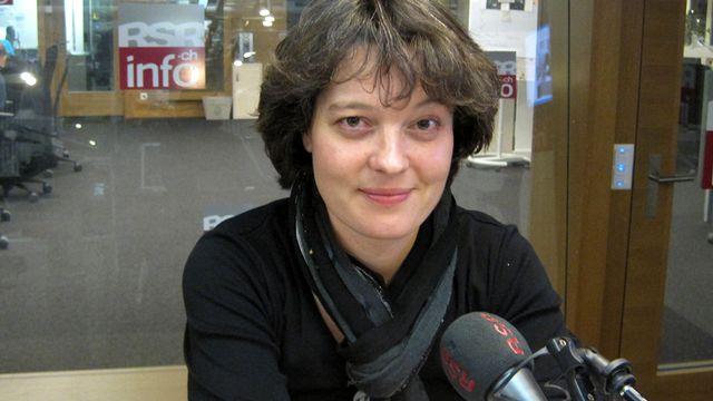 Célina Ramsauer, chanteuse et accordéoniste. [Frédéric Zahnd - RTS]