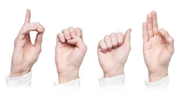 Langue des signes. [gemenacom - Fotolia]