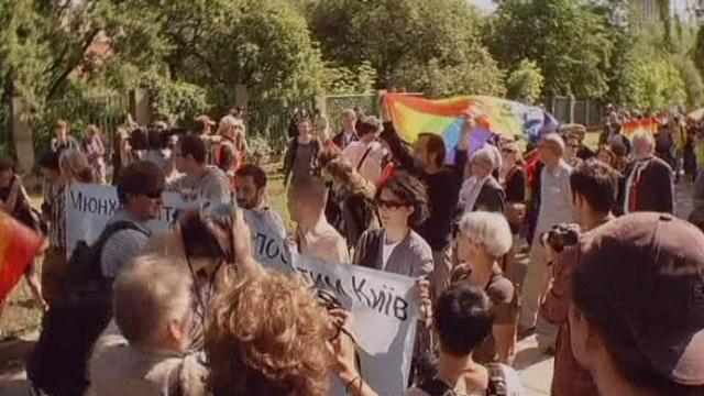 Première Gay Pride en Ukraine sous haute tension [RTS]