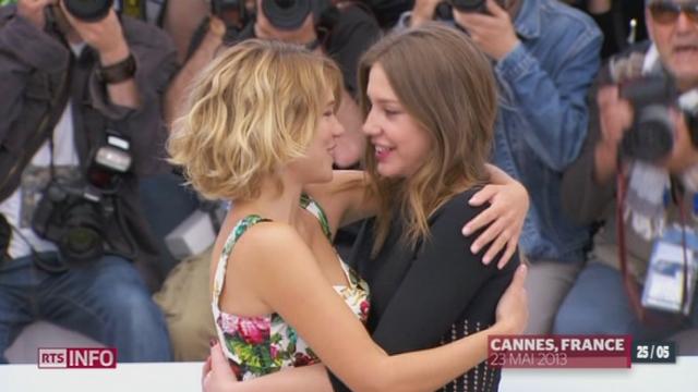 """Festival de Cannes: le film """"La vie d'Adèle"""" parmi les favoris pour la Palme d'or [RTS]"""