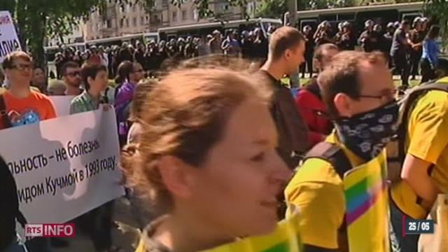 Les législations de la Russie et de l'Ukraine sont considérées comme homophobes [RTS]