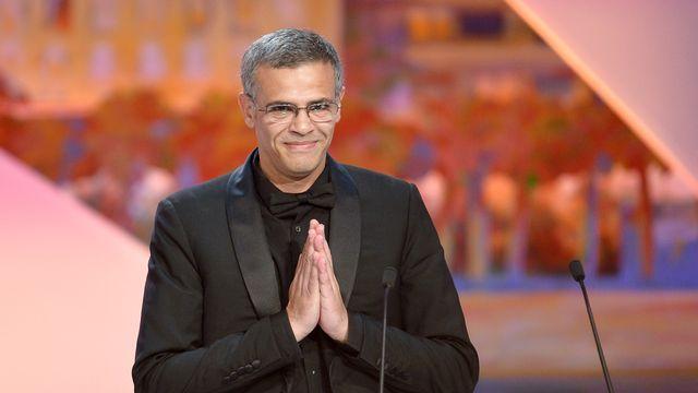 Le Franco-Tunisien Abdellatif Kechiche peu après avoir reçu la célèbre Palme d'or. [ALBERTO PIZZOLI - AFP]