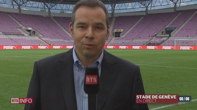 Football - Suisse-Chypre: le point avec Philippe von Burg au stade de Genève [RTS]