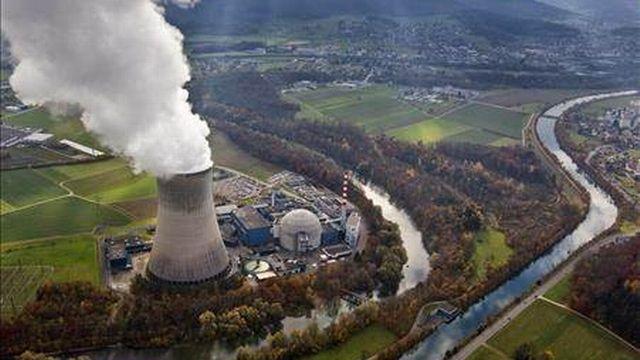 La centrale nucléaire de Gösgen dans le canton de Soleure a été mise en service en 1979. [Keystone]