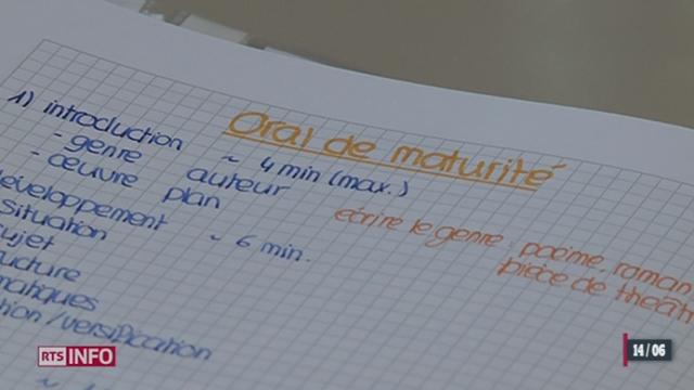 Les collégiens qui passent leurs examens de maturité sont actuellement soumis au stress [RTS]